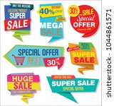modern sale stickers and tags... | Shutterstock .eps vector #1044861571