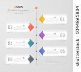 timeline infographics design...   Shutterstock .eps vector #1044865834