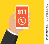 emergency call 911 concept.... | Shutterstock .eps vector #1044868717