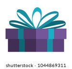 gift box present icon | Shutterstock .eps vector #1044869311