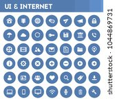 big ui and internet icon set | Shutterstock .eps vector #1044869731