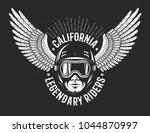 retro logo of the legendary... | Shutterstock .eps vector #1044870997