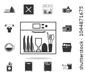 dishes in the dishwasher icon....   Shutterstock .eps vector #1044871675