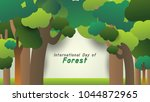 trees and forest backdrop  cute ... | Shutterstock .eps vector #1044872965