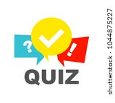 quiz background with speech... | Shutterstock .eps vector #1044875227