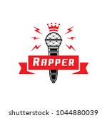 rapper badge with crown on... | Shutterstock .eps vector #1044880039