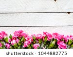 floral border with spring... | Shutterstock . vector #1044882775