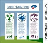 template banner or flyer ... | Shutterstock .eps vector #1044883699