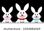 easter bunnies horizontal... | Shutterstock .eps vector #1044886069