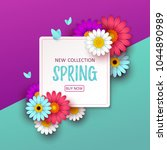 colorful spring background with ... | Shutterstock .eps vector #1044890989