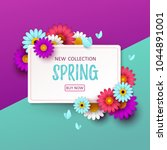colorful spring background with ... | Shutterstock .eps vector #1044891001