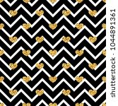 gold heart seamless pattern.... | Shutterstock .eps vector #1044891361