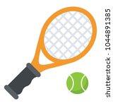 tennis racket and a ball... | Shutterstock .eps vector #1044891385