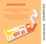 sunscreen poster with... | Shutterstock .eps vector #1044895201