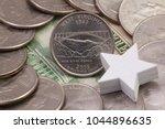a quarter of west virginia ... | Shutterstock . vector #1044896635