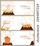 volcanic eruption stages vector ... | Shutterstock .eps vector #1044897319