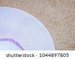 stylish beautiful hat with... | Shutterstock . vector #1044897805