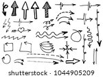 hand drawn vector arrows ...