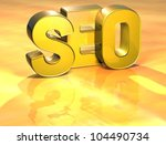 word seo on yellow background ...   Shutterstock . vector #104490734