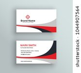 modern clean business card... | Shutterstock .eps vector #1044907564