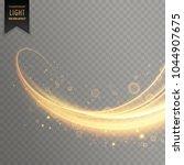 glowing transparent light... | Shutterstock .eps vector #1044907675