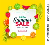 bright summer sale banner with... | Shutterstock .eps vector #1044908167