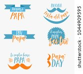 italian happy father's day icon | Shutterstock .eps vector #1044909595