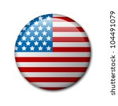Vector Badge With American Fla...