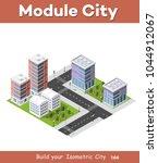 city isometric of urban... | Shutterstock . vector #1044912067