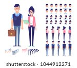 flat vector character set for ... | Shutterstock .eps vector #1044912271