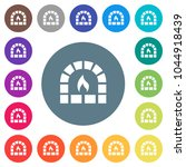 stone oven flat white icons on... | Shutterstock .eps vector #1044918439