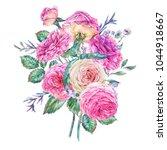 decorative vintage watercolor... | Shutterstock . vector #1044918667