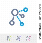 circle network   zap duo icons. ... | Shutterstock .eps vector #1044920041