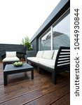 garden furniture on terrace of... | Shutterstock . vector #1044930844