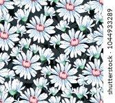 chamomile flower hand drawing... | Shutterstock .eps vector #1044933289