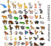 large set of animals | Shutterstock .eps vector #104493521