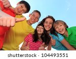 happy brothers and sisters | Shutterstock . vector #104493551