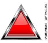 red triangle with bold chrome... | Shutterstock . vector #1044938251