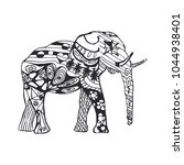 vector image of an elephant.... | Shutterstock .eps vector #1044938401