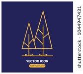pine tree vector icon...