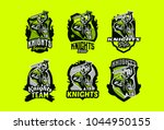 a set of colorful emblems ... | Shutterstock .eps vector #1044950155