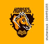 colorful emblem  badge  logo ... | Shutterstock .eps vector #1044951055