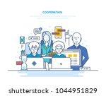 cooperation  partnerships ... | Shutterstock .eps vector #1044951829