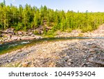 forest trees river valley...   Shutterstock . vector #1044953404