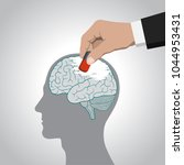 the erasure of the brain  its... | Shutterstock .eps vector #1044953431