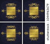 set of four templates of... | Shutterstock .eps vector #1044963679