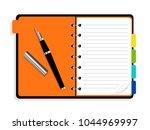 organizer blank. open notebook... | Shutterstock .eps vector #1044969997