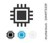 computer processor icon. cpu... | Shutterstock .eps vector #1044973339