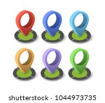 isometric pin icon | Shutterstock . vector #1044973735