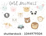 cute animals isolated... | Shutterstock .eps vector #1044979504